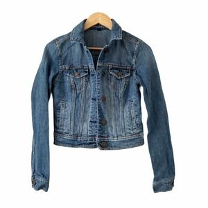 American Eagle Jean Jacket Small Cropped Buttoned